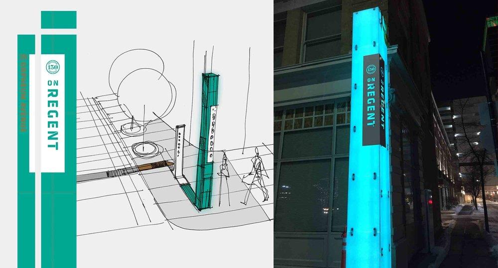 Initial Sketch and Final Obelisk