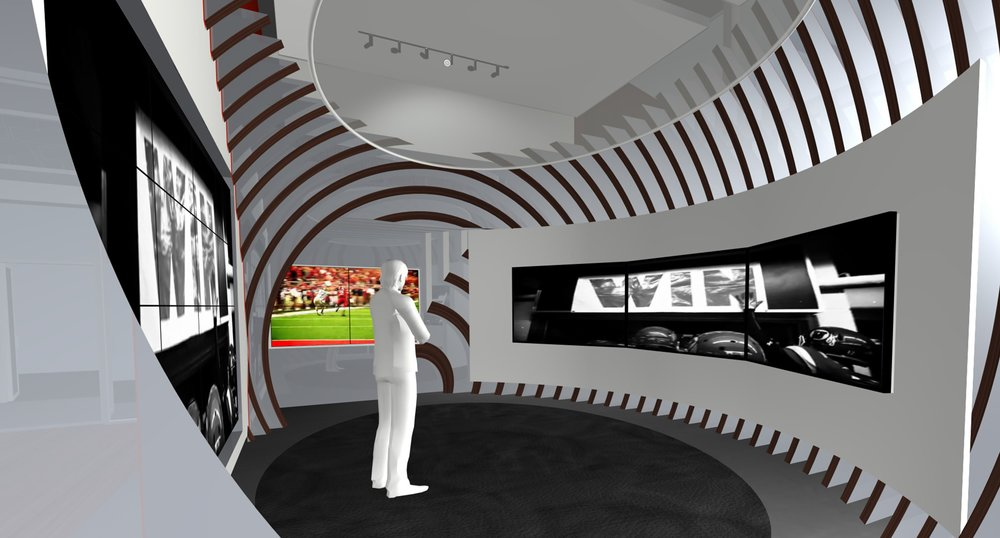 Hall of Fame Tunnel Rendering