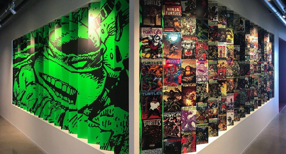 Both Views of Teenage Mutant Ninja Turtles Wall
