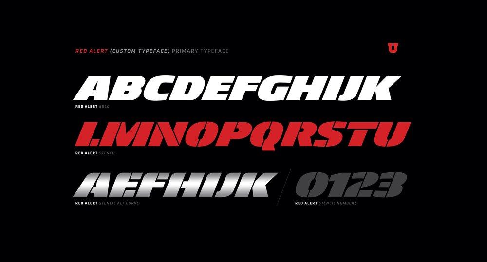 Custom typography developed for the center.