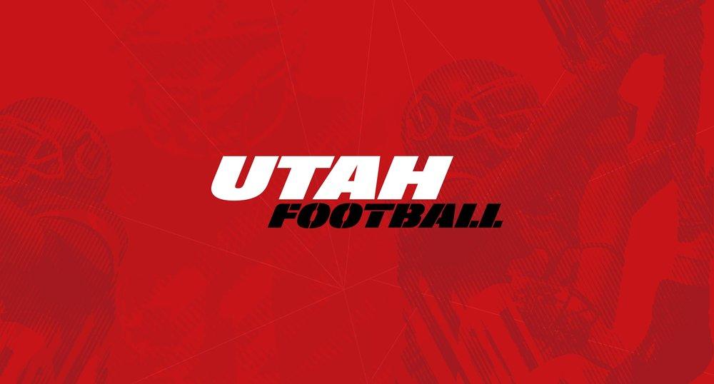 Utah Football Custom Typography Logo on Red Background
