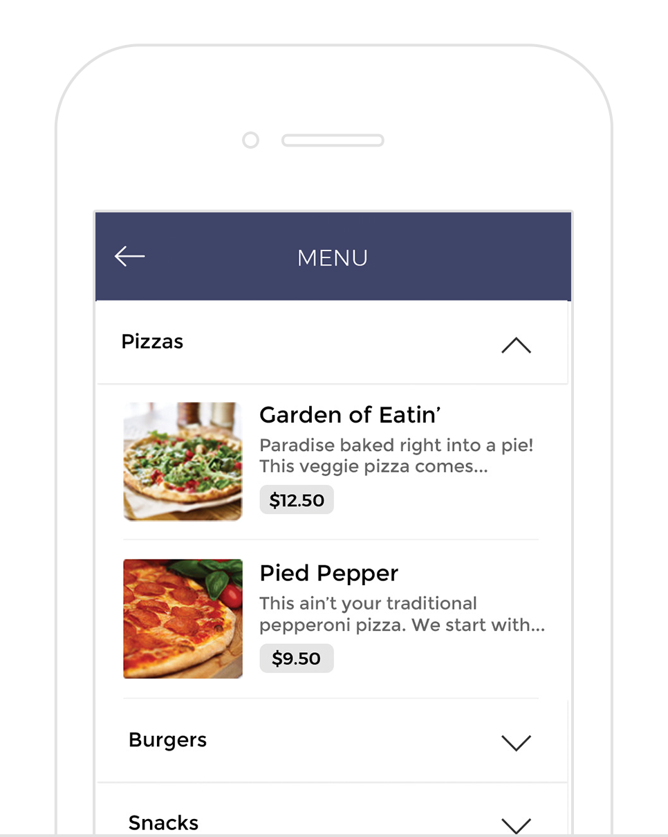 onTap Food and Beverage - Don't just put your menu in their pockets, stay completely in sync with your customers with a streamlined ordering system for your food and beverage. With customizable menus, delivery and payment options, and flexible order reception - including an easy to use POS application - this tap-to-order interface is a dream come true for your course AND golfers.