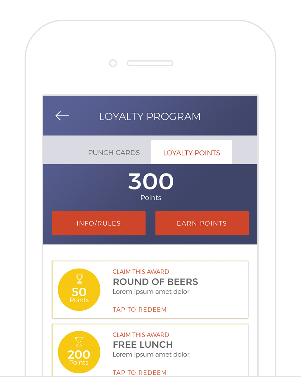 Loyalty Programs - Simple to setup, and easy for your customers to use. Customize multiple loyalty programs all tracked right through your app. Drive loyalty revenue for golf, F&B, lessons, merchandise, and much more.
