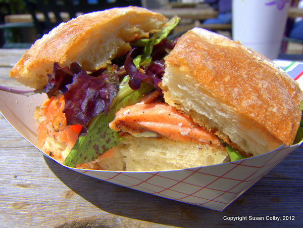 Cape Cleare salmon sandwich