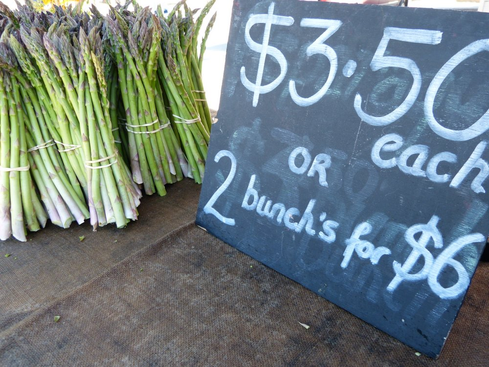 Beautiful fresh asparagus