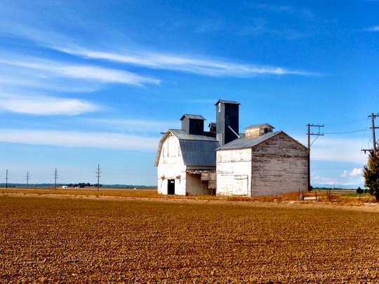 barn and grain elevator