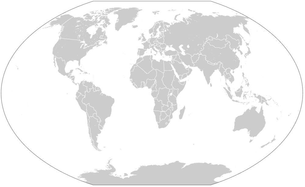 Winkel Tripel Projection. Source: https://commons.wikimedia.org/wiki/File:1937_world_map_(Winkel_tripel_projection).svg