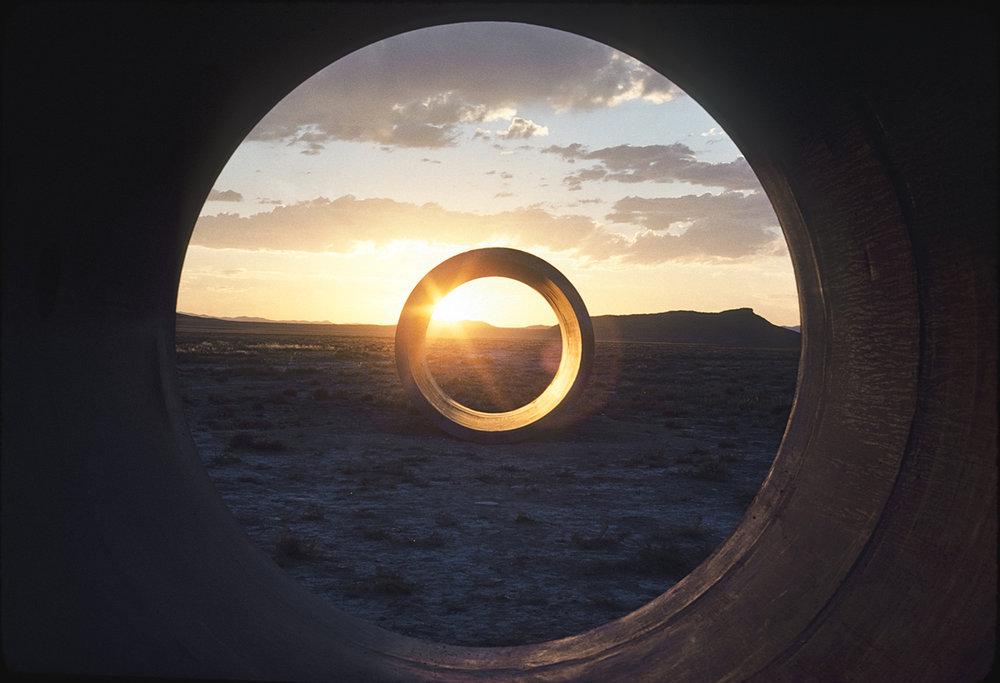 Holt, N. (1973-76)  Sun Tunnels.      Image source: http://artistsofutah.org/15bytes/12oct/page4.html