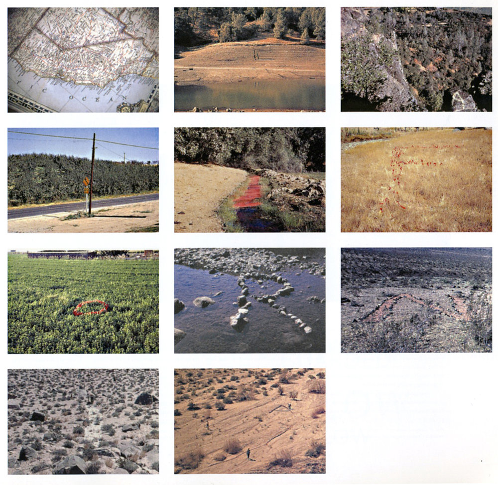 Baldessari, J. (1969)  The California Map Project.  Image source: http://karenmoss.art/topographies/
