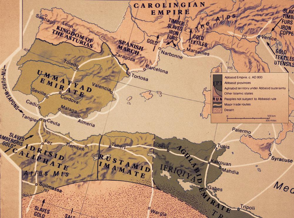 The Islamic Empire.Source: R.I. Moore (1981) Hamlyn Historical Atlas.