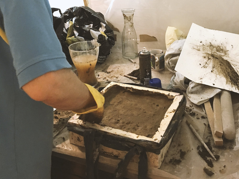 Using the mould (for both clay and earth)