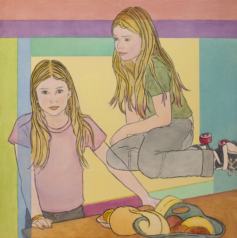 Girl with Roller Skates