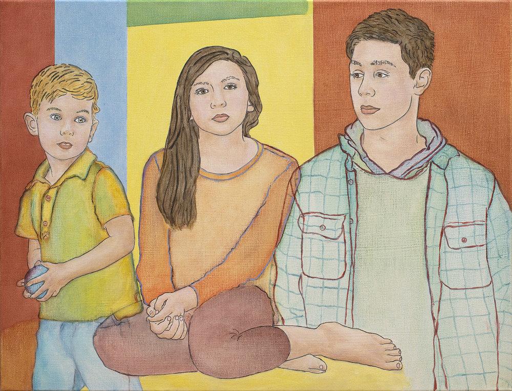 Portrait of Three Siblings