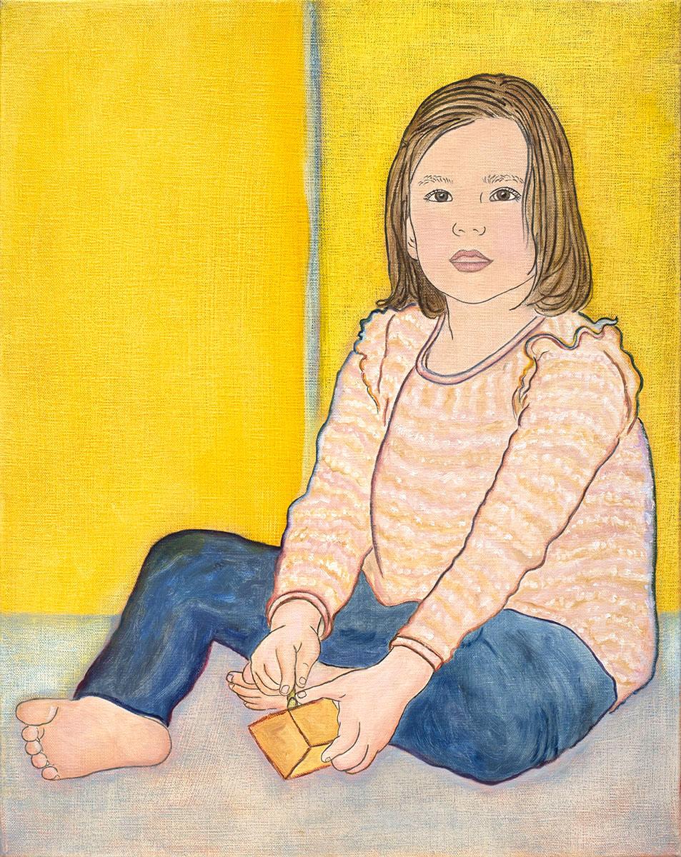 Young girl at play