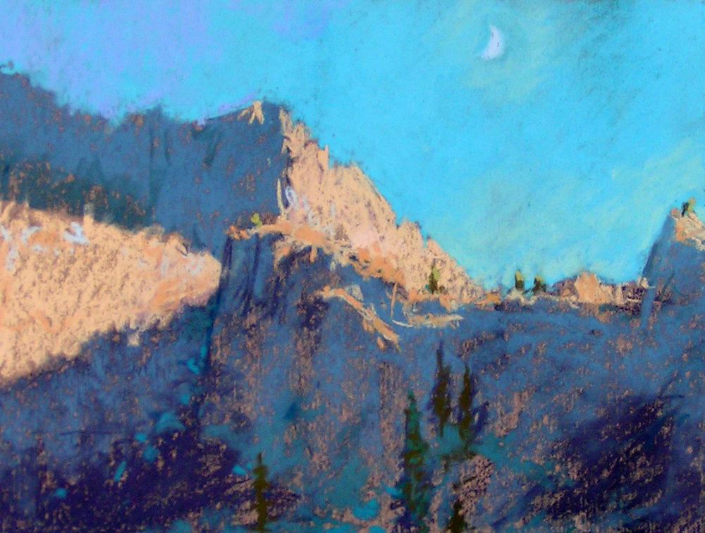 Moon Above Alta Peak