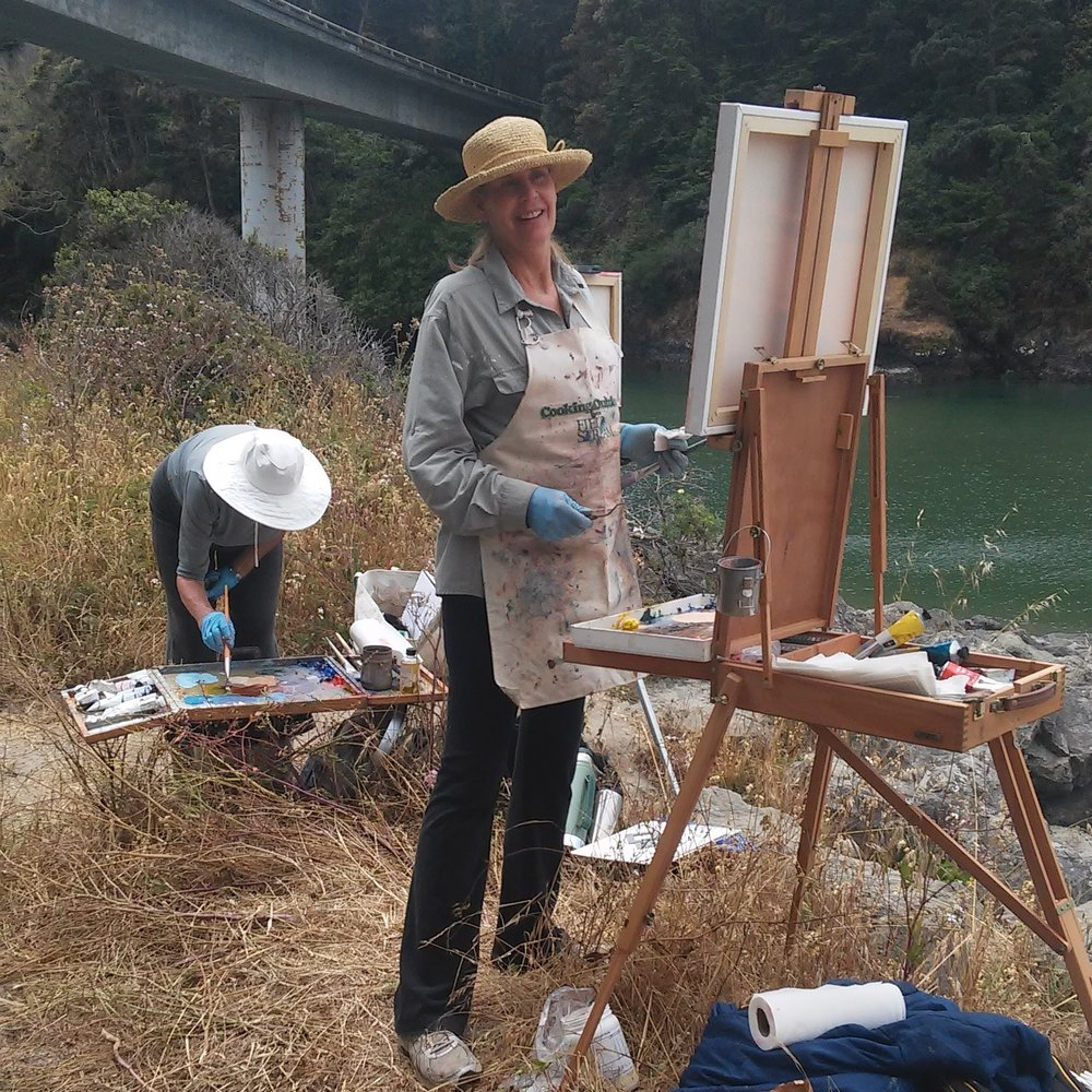 Scaling Up Plein Air - This plein air course focuses on painting large in the field and on sketching small to make larger paintings in the studio  We also explore how to finish a painting in the studio after getting rained on.