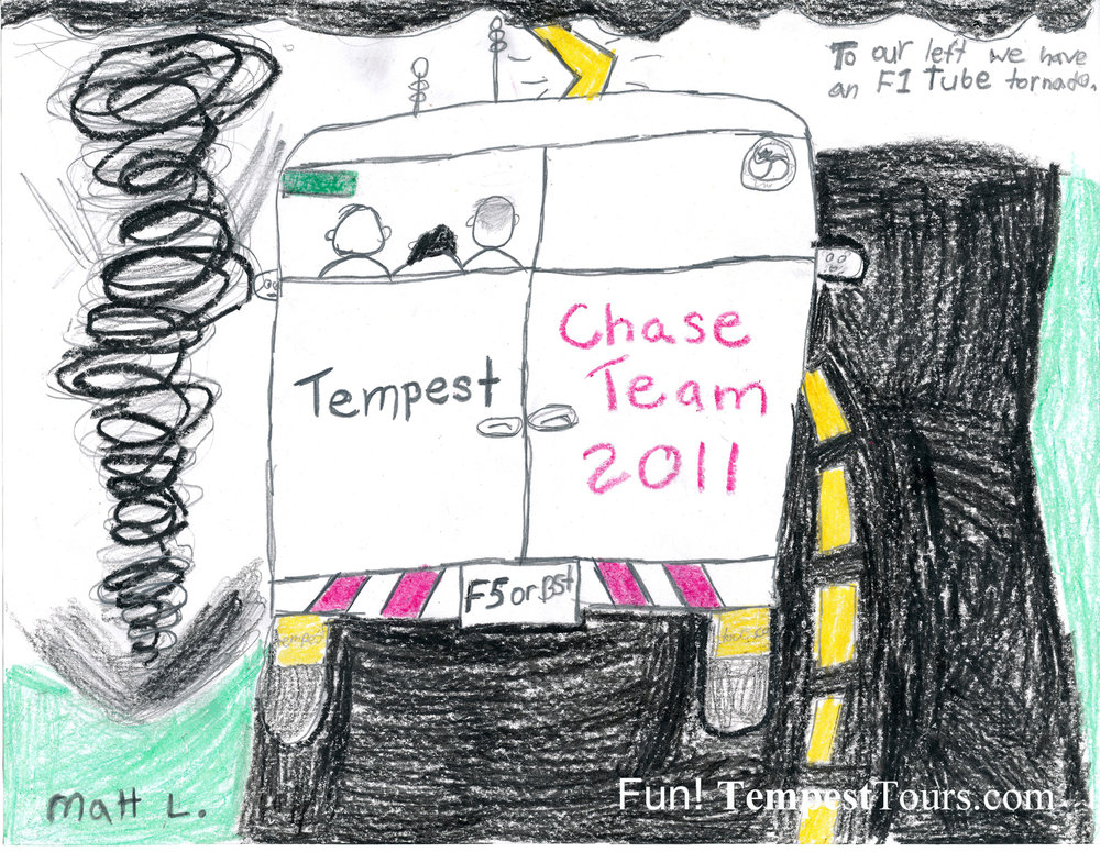 Tempest Chase Team 2011 Sketch by Matthew Tempest Tours Storm Chasing Expeditions www.tempesttours.com.jpg