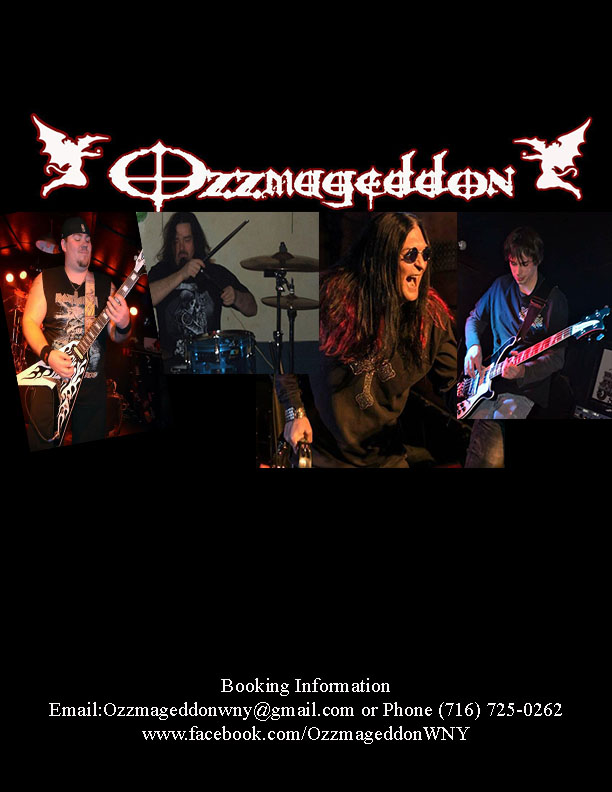 Ozzmageddon has been WNY'S premier Ozzy tribute band since 2010, reforming in 2016 to fire up stages once again!