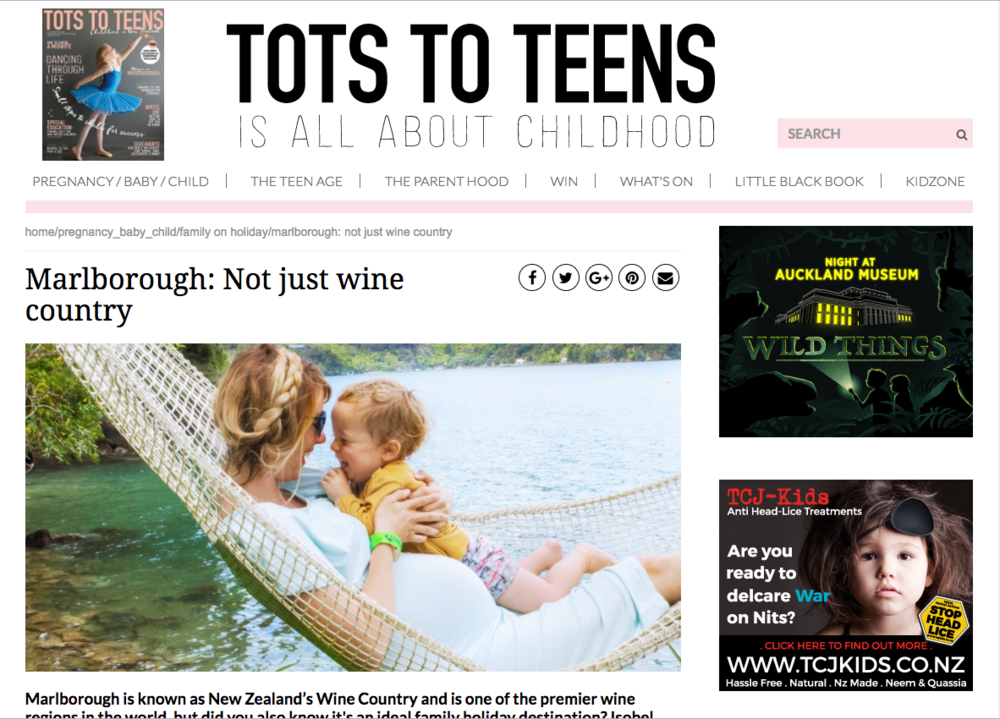 TOTS TO TEENS MAGAZINE: FAMILY TRAVEL MARLBOUROUGH REGION