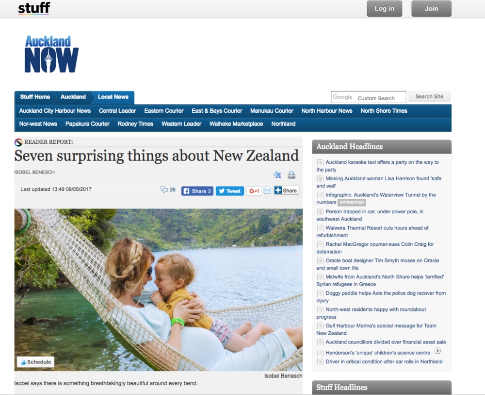 STUFF NZ: SEVEN SURPRISING THINGS ABOUT NEW ZEALAND