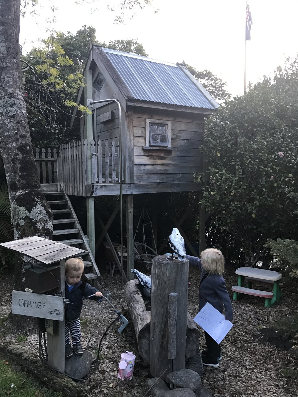 ^^^ Playground and treehouse at a Wellington Airbnb