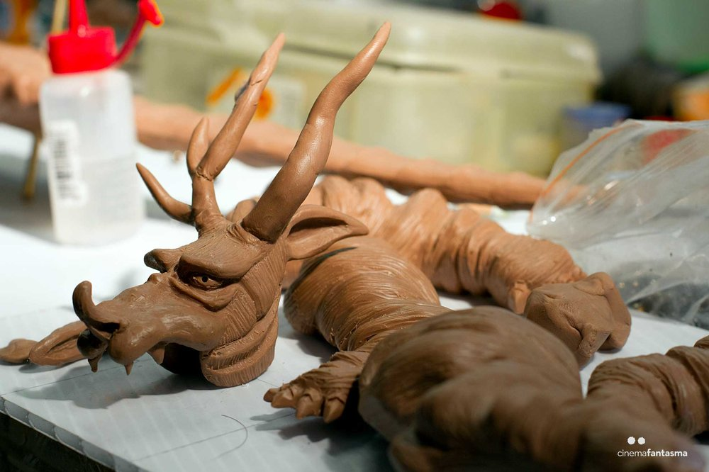Process of the Dragon sculpture being made!