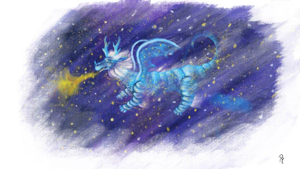 Arte conceptual del Dragón Constelación.