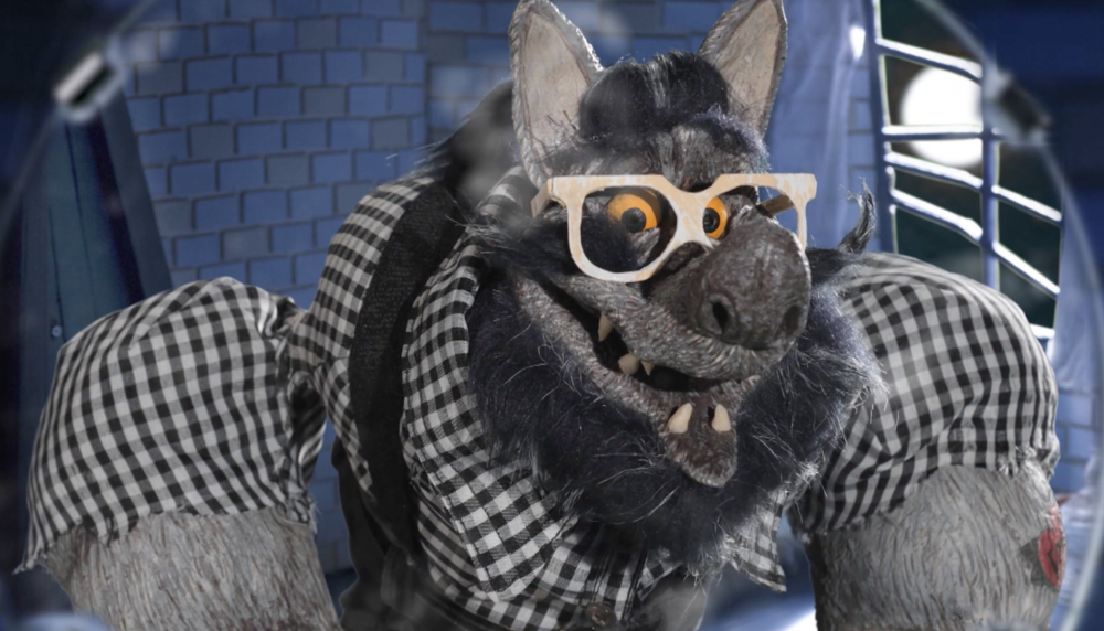 Still from  Adult Swim ID: Hipster Werewolf , 2018