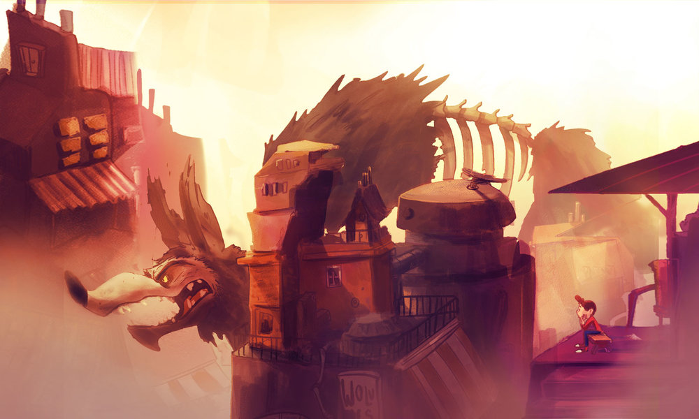 Ilustración de  Wolves  por Diego y Sebastian Ramirez.