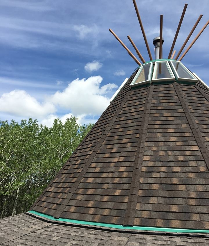 The team submitted a recommendation of change to the roofing project to install DECRA, a heavyweight metal shingle that boasts a lifetime guarantee. Additionally, the finish on the product gives it a heavy-cut wood shingles look, which allows both the Main and Spiritual Lodge to maintain its traditional look. -