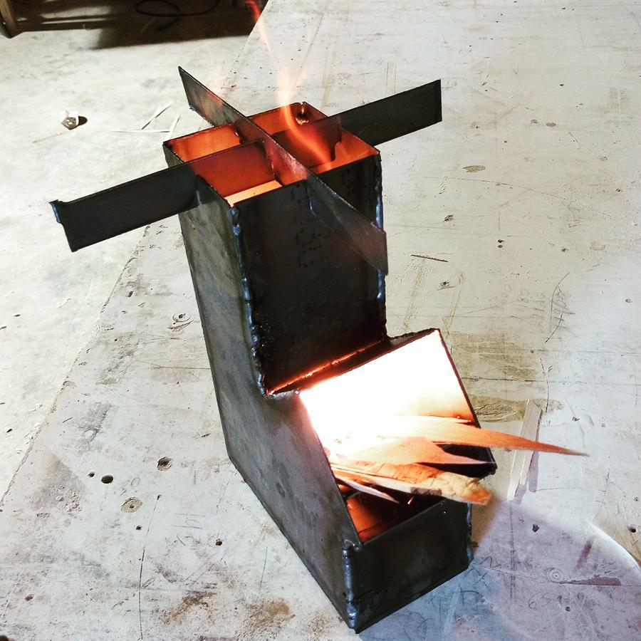 Weld it Yourself Rocket Stove Kit. One of many available!