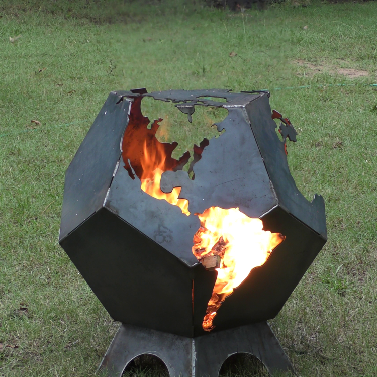 Weld It Yourself Dodecahedron Globe Fire Pit Kit - Weld It Yourself Dodecahedron Globe Fire Pit Kit — 42Fab