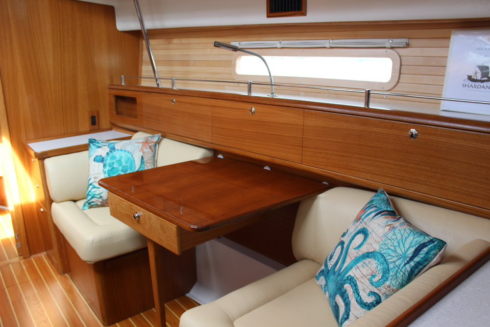 Shardana Cocktail Table Converts to a Berth
