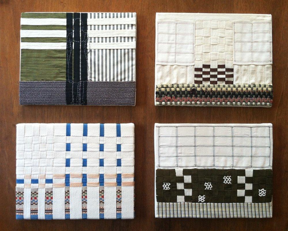 Pine Place. Twill tape, seam binding, silk, notions, 2013.