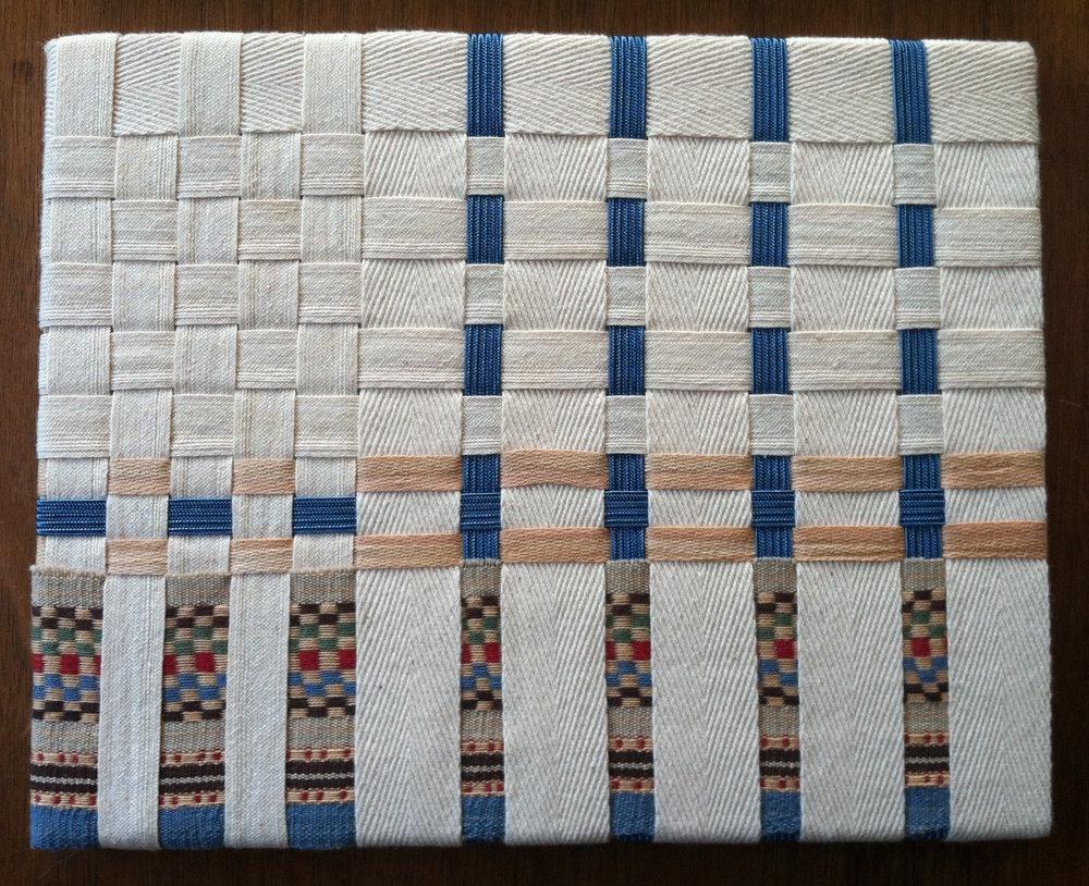 Vintage waistband elastic, seam binding, 2013.