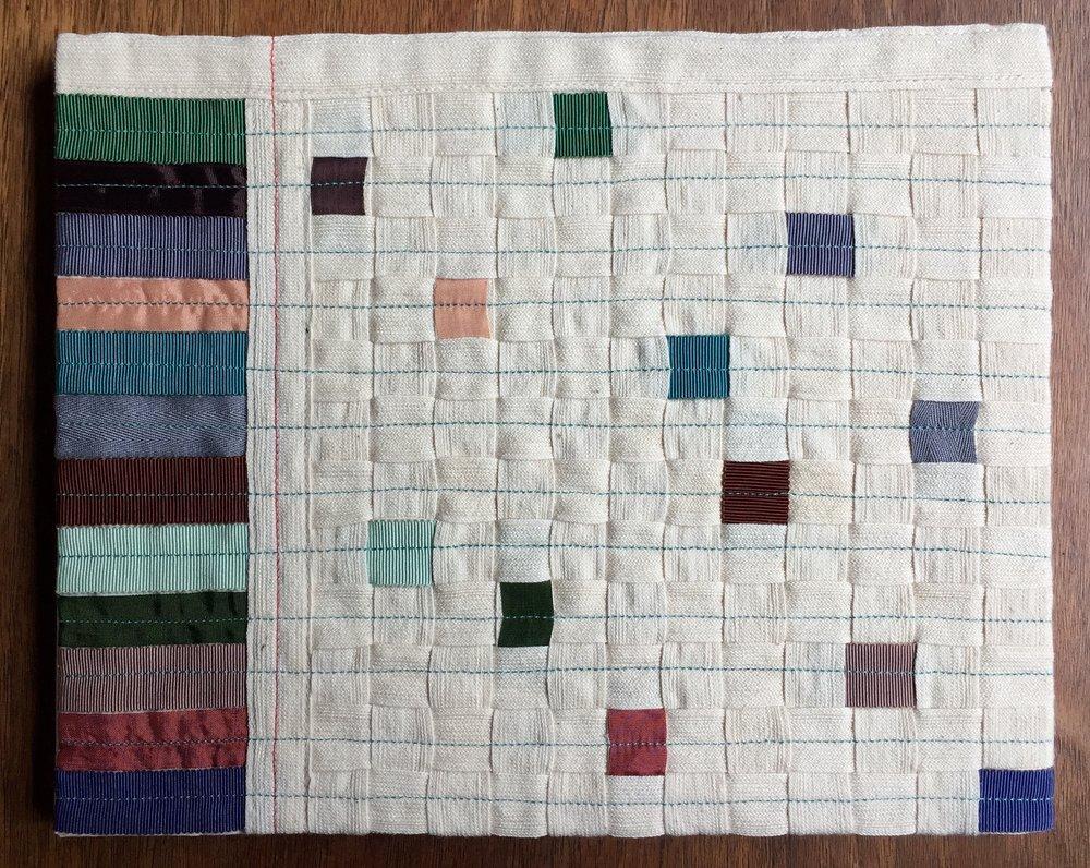 Twill tape, grosgrain ribbon, seam binding, 2013.