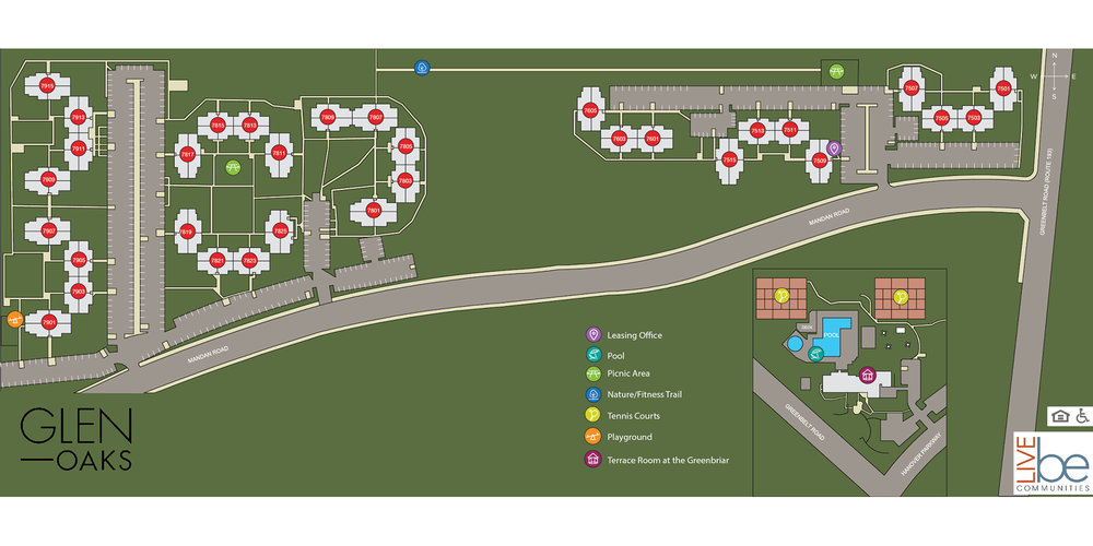 GLEN OAKS SITE MAP