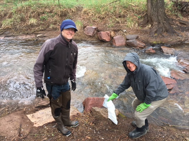 Helping clean Fountain Creek