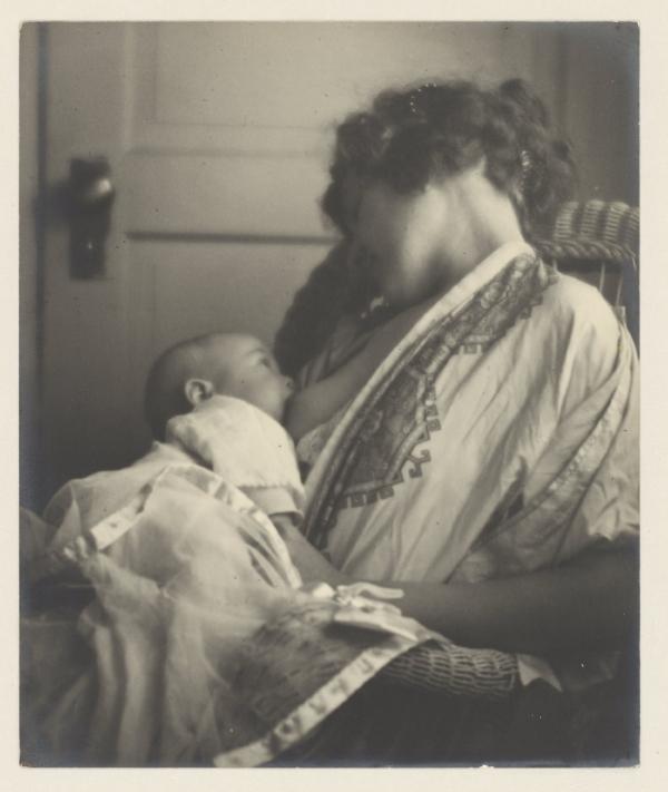 Moeder voedt baby, Louis Fleckenstein (atribuída)