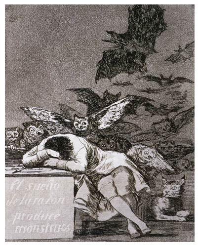 El sueño de la razón produce monstruos, Francisco Goya