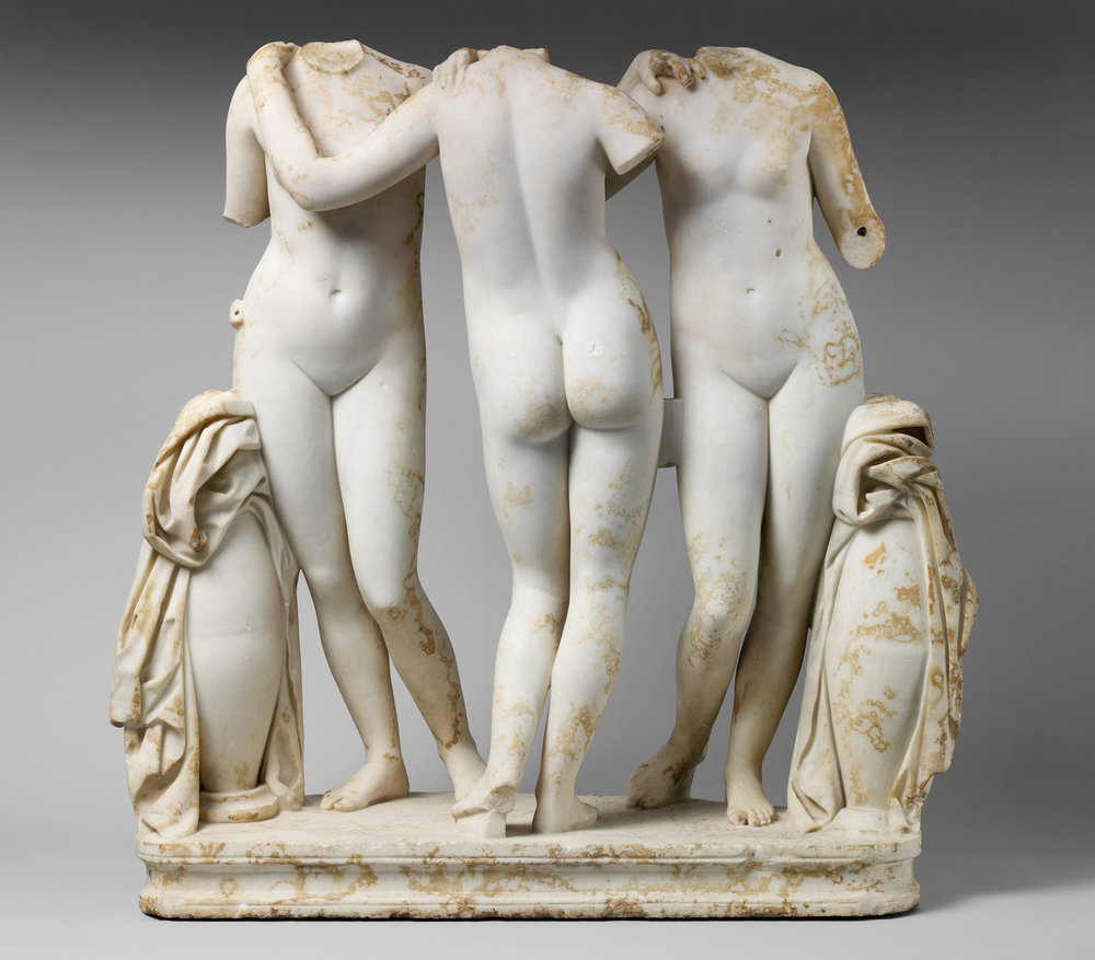Marble Statue Group of Three Graces (Siglo 2 A.D) - Imperio Romano