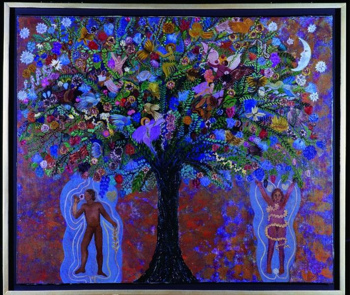 Paraíso 2 , Judith Gutiérrez Óleo sobre lino 110 x 130 1993