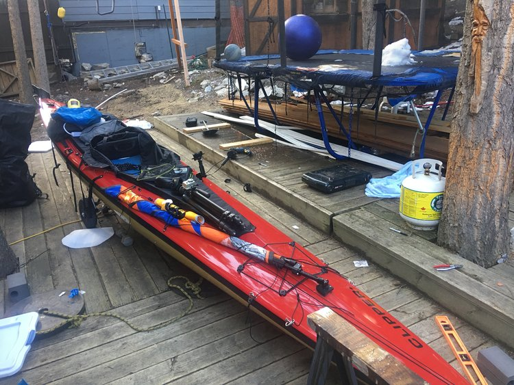 Clipper Sea 1 Hybrid Canoe Kayak Tricked Out With A Falcon Sail Kit