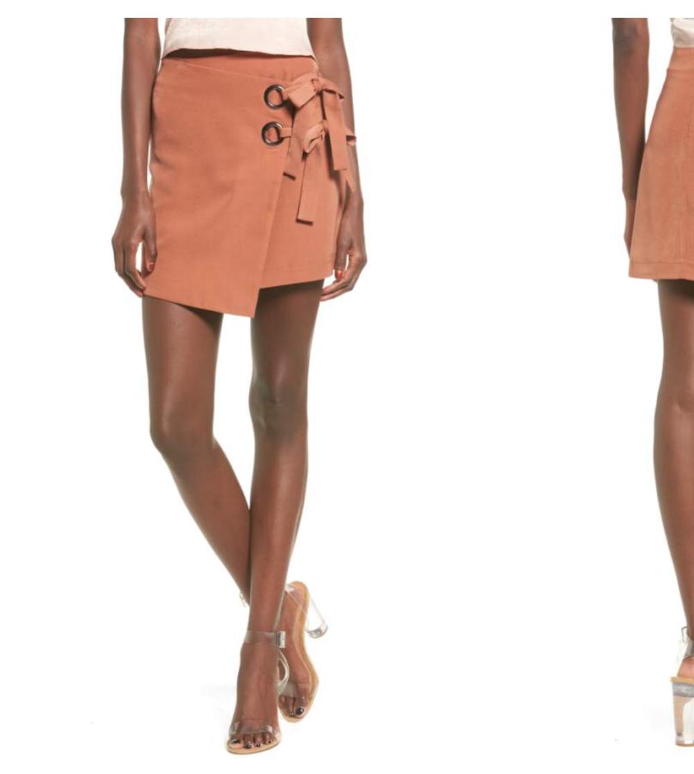 J.O.A Wrap Mini-skirt
