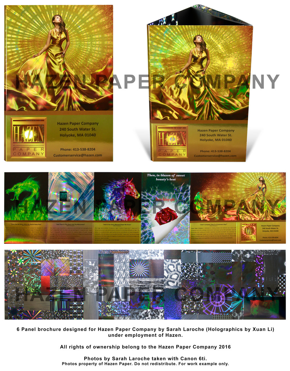 Holographic Panel Sample Brochure