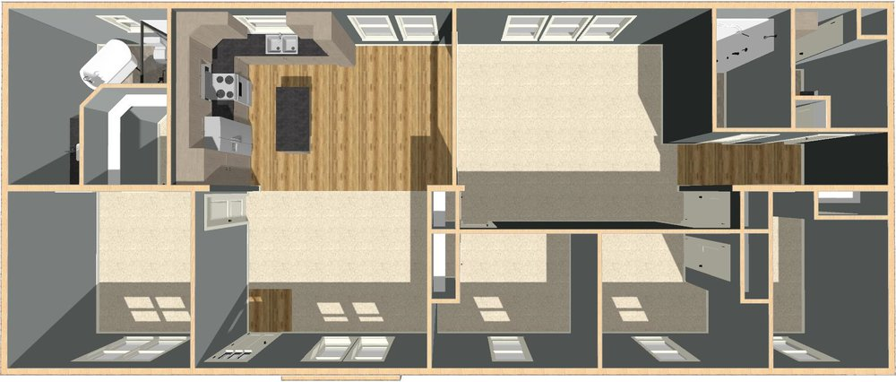 Carroll | 2,160 Square Foot | 30' x 72'