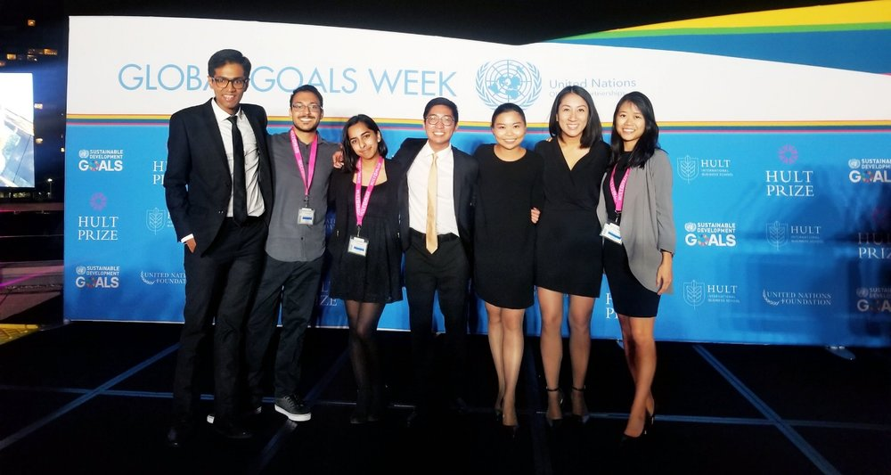 Left to right: Kaivalya Gandhi, Sahil Jain, Komal Javed, Keith Choy, Jade Choy, Lisa Tran, Angie Kwan Missing: Hanumanth Kumar and Ayush Bhagat