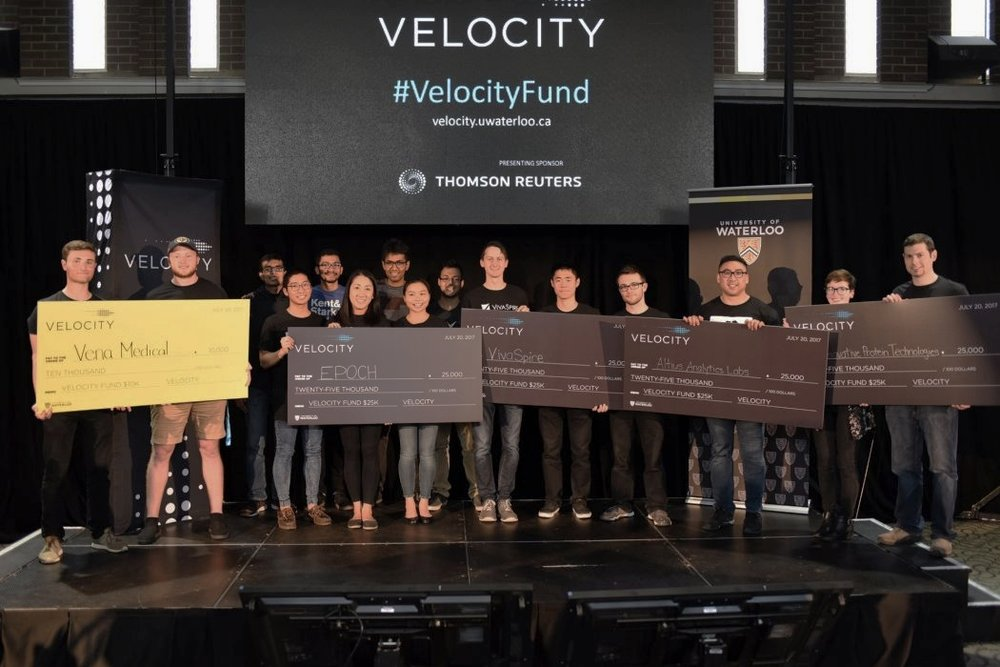 BetaKit - University of Waterloo Announces Four $25,000 Winners of Velocity Fund Finals  - The University of Waterloo's latest Velocity Fund Finals had 10 startups pitching to a panel of judges including Seth Bannon, founding partner of Fifty Years; Dianne Carmichael, chief advisor of health tech at the Council of Canadian Innovators; Eric Migicovsky, Pebble founder and visiting partner at Y Combinator; and Tomi Poutanen, co-CEO of Layer 6 AI.
