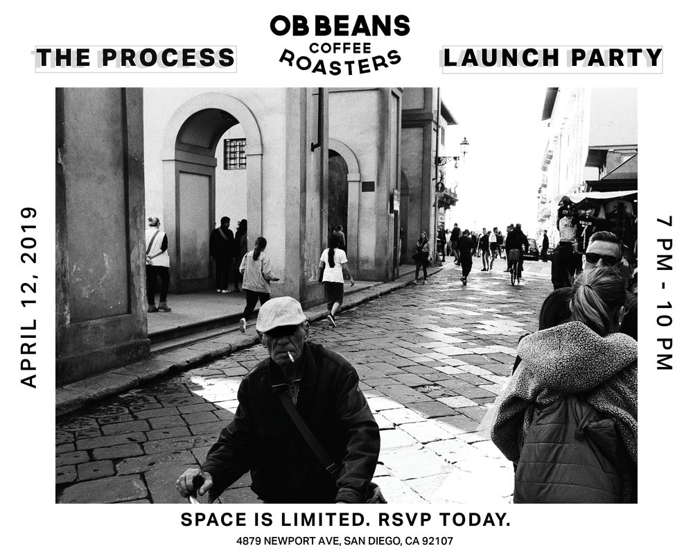The Wait is Over! - After about two years of daily work to craft my first body of work, The Process, it's finally here. Join me, April 12th, at OB Beans in Ocean Beach for a launch party you're not going to want to miss.