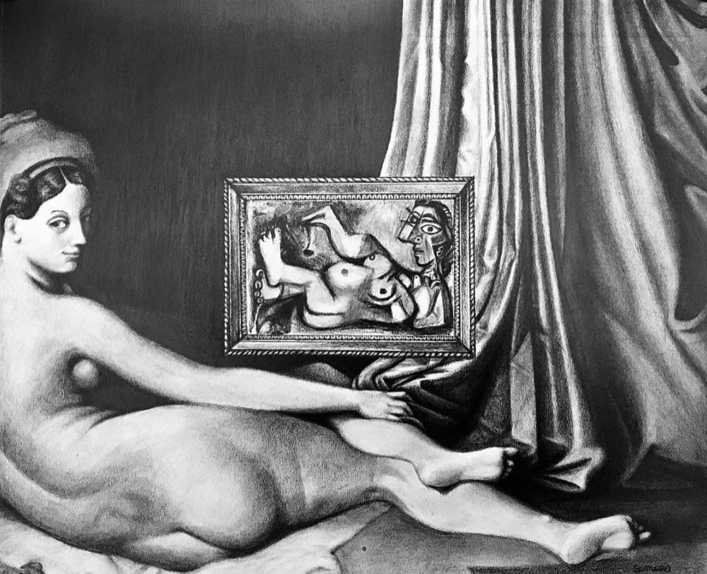 Reclining Nude - Ingres vs Picasso